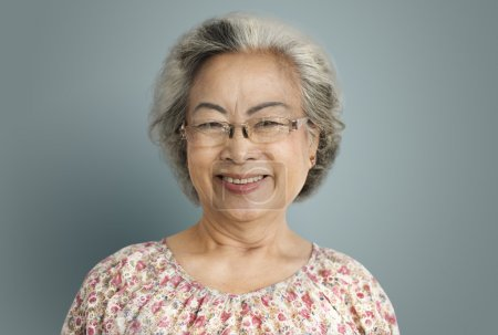 Senior Woman smiling at camera