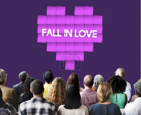 people at seminar with Fall in Love