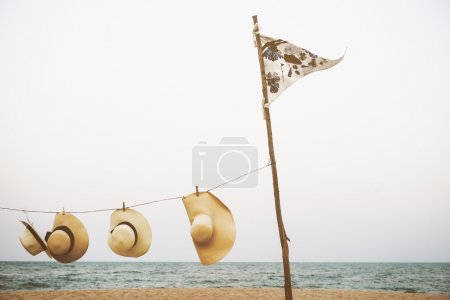Hanging Hat on the Beach