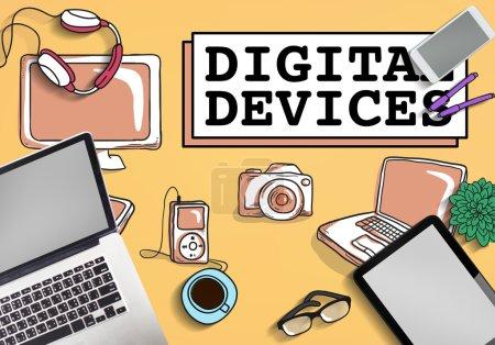 Digital Devices Electronics Concept