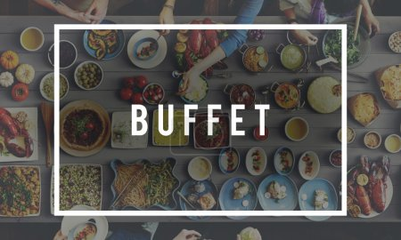table with food and Buffet