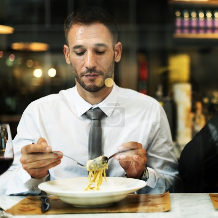 Business man Dining After Work