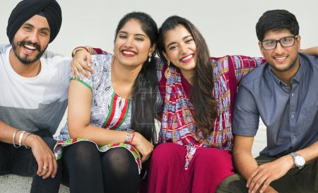 beautiful Indian young people
