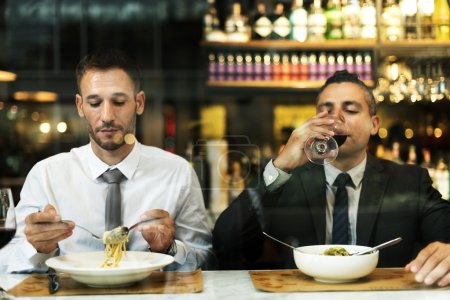 Business Colleagues Dining together