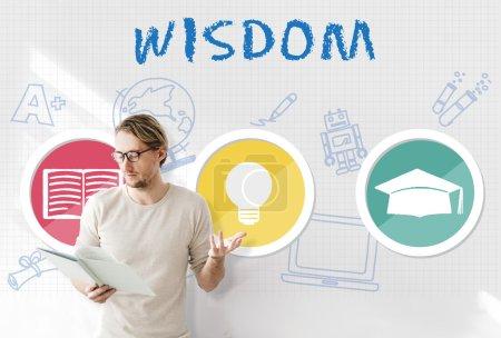 businessman working with Wisdom