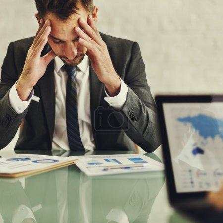 Businessman after Stress Meeting