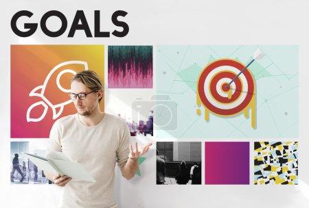 businessman working with Goals