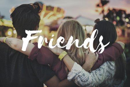 Friends in Amusement Park