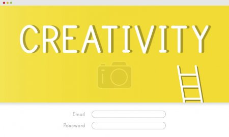 creative banner with text Creativity