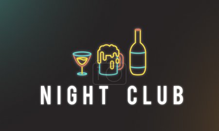 Creative banner with text Night Club