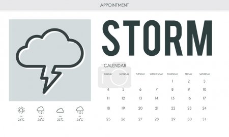 Creative banner with text Storm