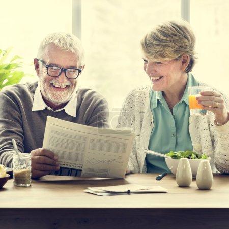 Senior Adults Reading