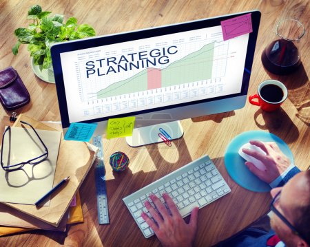 Businessman Working with Strategic Planning concept