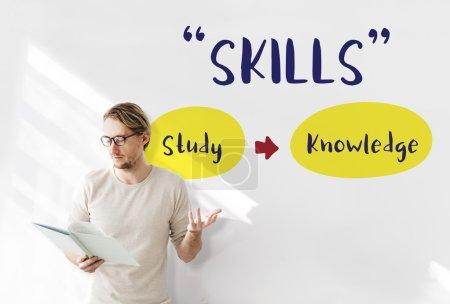 businessman working with Skills