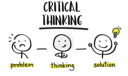 creative banner with text Critical Thinking