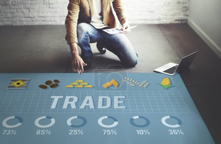 Businessman working with Trade