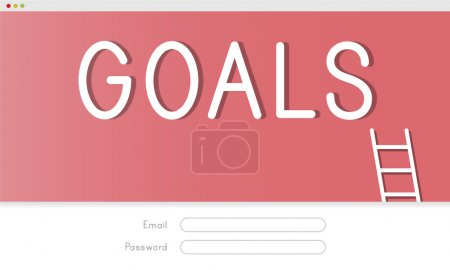 Creative banner with text Goals