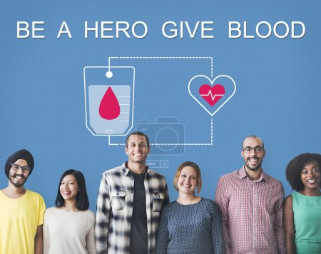 diversity people with Give Blood