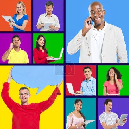 Individuals Happily Social Media Networking