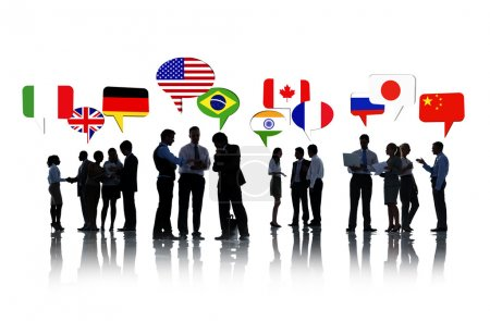 Business People with different flags