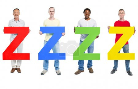 People holding letter 'Z'