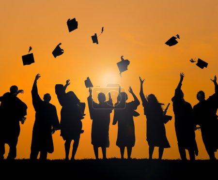 Photo for Group Of Diverse International Students Celebrating Graduation - Royalty Free Image