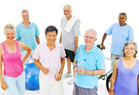 Senior Adults Exercising
