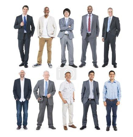 Diverse Cheerful Businessmen