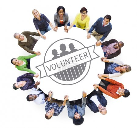 People and Volunteer Concept