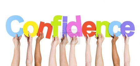 People Holding word Confidence