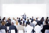 Velká skupina podnikatelů v prezentaci