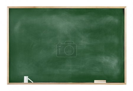 Textured Blackboard with Chalks