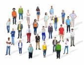 Skupina různých mnohonárodnostní lidí
