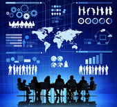 Business People With Infographic Illustration