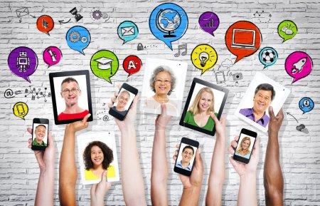 People in visual screens