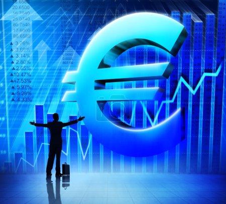 Businessman and Success Euro sign