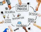 Obchodní lidé a kreativita koncepce