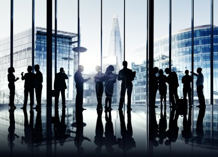 Business People Working Together Indoors