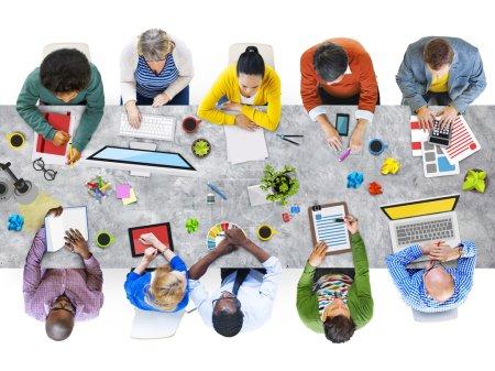 Diverse People Working