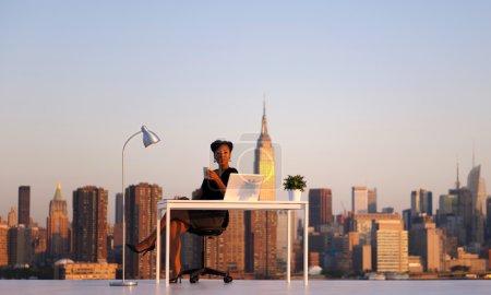 Businesswoman in New York city