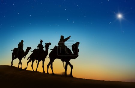 Three Wise Men looking at star