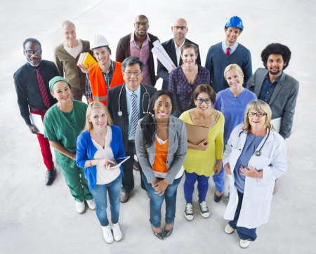 Group of Diverse People with Various Jobs