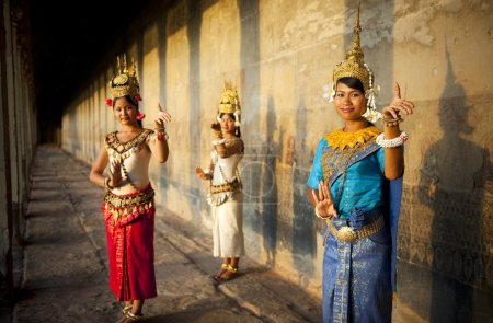 Cambodian dancers in traditional costume