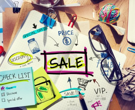 Note Pad with Sale Concepts