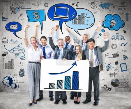 Business people strategic planning