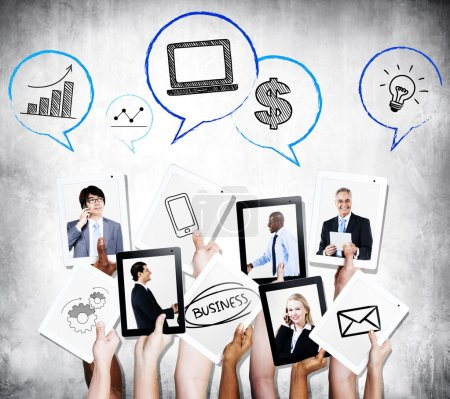 Business people communication and growth