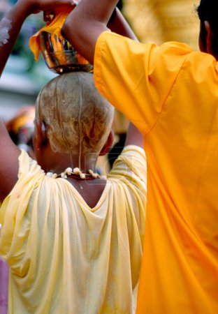 Hindu devotees at the Thaipusam festival