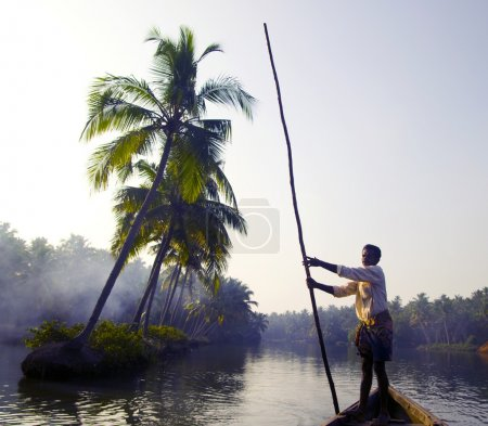 Indian boatman