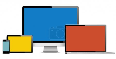Digital Devices with Colorful Screens