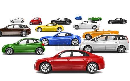Multi-Colored Cars